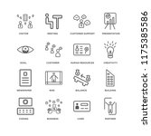 set of 16 simple line icons... | Shutterstock .eps vector #1175385586