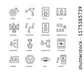 set of 16 simple line icons... | Shutterstock .eps vector #1175385739