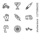 set of 9 simple icons such as... | Shutterstock .eps vector #1175386333