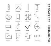 set of 16 simple line icons... | Shutterstock .eps vector #1175390113