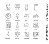 set of 16 simple line icons... | Shutterstock .eps vector #1175391130