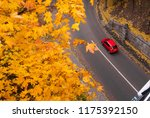 aerial view of road with red... | Shutterstock . vector #1175392150