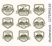 mountain badge vector | Shutterstock .eps vector #1175393110