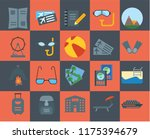 set of 20 icons such as cruise  ... | Shutterstock .eps vector #1175394679