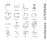 set of 16 simple line icons... | Shutterstock .eps vector #1175396506
