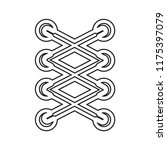 cord lace icon vector isolated... | Shutterstock .eps vector #1175397079