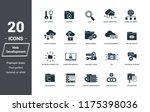 insurance icons set. premium... | Shutterstock . vector #1175398036