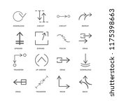 set of 16 simple line icons... | Shutterstock .eps vector #1175398663