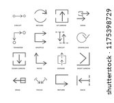 set of 16 simple line icons... | Shutterstock .eps vector #1175398729