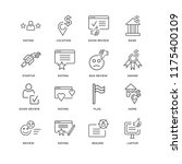 set of 16 simple line icons... | Shutterstock .eps vector #1175400109