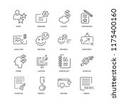 set of 16 simple line icons... | Shutterstock .eps vector #1175400160