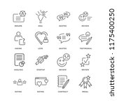set of 16 simple line icons... | Shutterstock .eps vector #1175400250