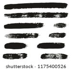 paint brush lines high detail... | Shutterstock .eps vector #1175400526