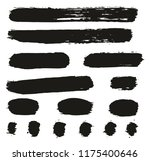 paint brush lines high detail... | Shutterstock .eps vector #1175400646