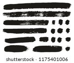 paint brush lines high detail... | Shutterstock .eps vector #1175401006