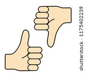 thumb up and down. i like and... | Shutterstock .eps vector #1175402239