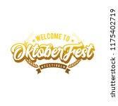 oktoberfest simple vector... | Shutterstock .eps vector #1175402719