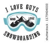 mountain snowboard logo.... | Shutterstock .eps vector #1175404033