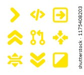 arrows icons set with right...   Shutterstock .eps vector #1175408203