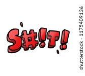 cartoon doodle swear word   Shutterstock .eps vector #1175409136