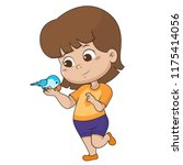the child was playing with his...   Shutterstock .eps vector #1175414056