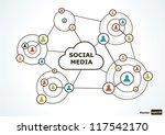 social media concept. vector... | Shutterstock .eps vector #117542170