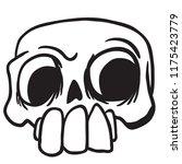 skull cartoon illustration...   Shutterstock .eps vector #1175423779
