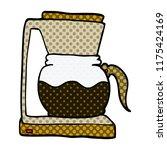 cartoon doodle coffee machine | Shutterstock .eps vector #1175424169