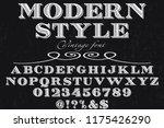 font alphabet script typeface... | Shutterstock .eps vector #1175426290