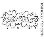 line drawing cartoon words ker... | Shutterstock .eps vector #1175434270