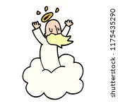 cartoon doodle god on cloud | Shutterstock .eps vector #1175435290