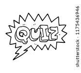 line drawing cartoon font quiz  | Shutterstock .eps vector #1175436946