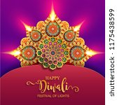 happy diwali festival card with ... | Shutterstock .eps vector #1175438599