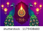 happy diwali festival card with ... | Shutterstock .eps vector #1175438683