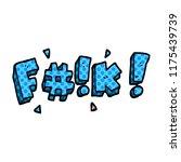 cartoon doodle swear word   Shutterstock .eps vector #1175439739