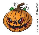 pumpkin cartoon illustration...   Shutterstock .eps vector #1175441506