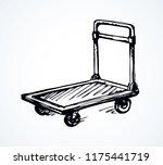 big empty forklift handcart... | Shutterstock .eps vector #1175441719