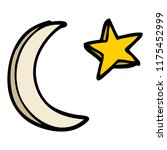 cartoon doodle moon and star... | Shutterstock .eps vector #1175452999