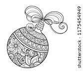 monochrome ornate christmas...   Shutterstock .eps vector #1175454949