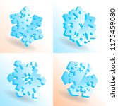 set of 3d vector isometric... | Shutterstock .eps vector #1175459080