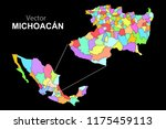 political map of mexico. colors | Shutterstock .eps vector #1175459113
