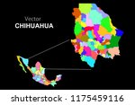 political map of mexico. colors | Shutterstock .eps vector #1175459116