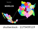 political map of mexico. colors | Shutterstock .eps vector #1175459119