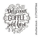 banner of coffee with lettering.... | Shutterstock .eps vector #1175459566