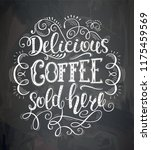 banner of coffee with lettering ... | Shutterstock .eps vector #1175459569