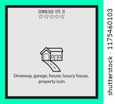 driveway  garage  luxury house  ...   Shutterstock .eps vector #1175460103