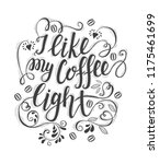 banner of coffee with lettering.... | Shutterstock .eps vector #1175461699
