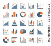 graph and chart related flat... | Shutterstock .eps vector #1175463823