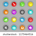 user interface colored plastic... | Shutterstock .eps vector #1175464516