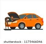 car repairs. the mechanic... | Shutterstock .eps vector #1175466046